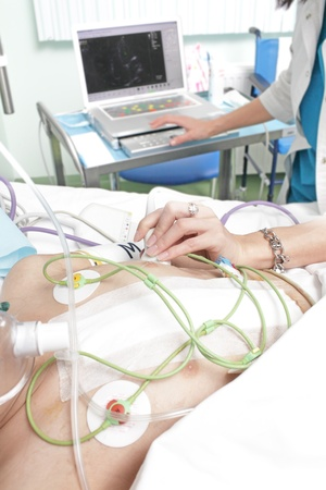 diagnostics of a patient in a hospital ward  Stock Photo - 21576228