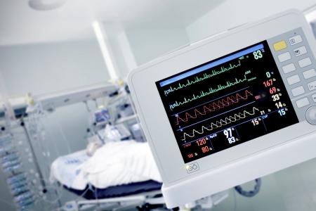 在與病人工作心肺顯示器