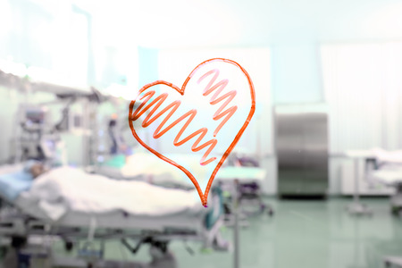 heart shape in the background of a hospital ward Stock Photo - 22674337