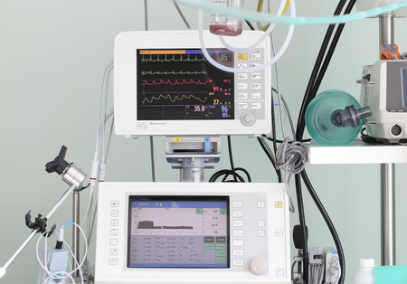 preasure: Rescue Means in the ICU  Monitoring technology and assistance in the modern ICU Stock Photo