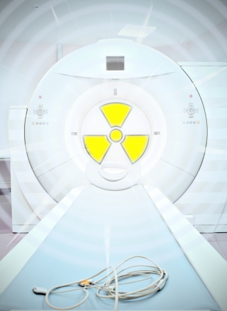 ray trace: radiation in medicine  Sign of radioactivity in medical CT scanner