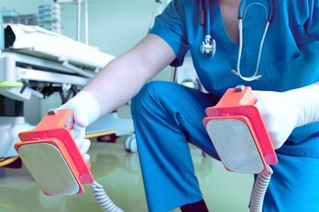 tachycardia: desfibrilaci�n descarga el�ctrica en el hospital