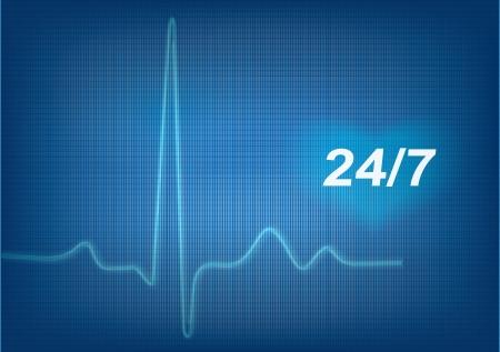 electrocardiogram  ECG   Detailed vector  Vector