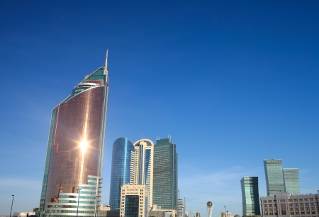 skyscrapers of downtown Astana  Stock Photo