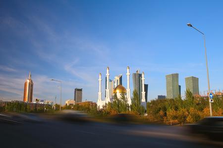 astana: Evening Astana  Stylized photo  Stock Photo