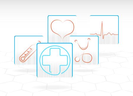 medical art: Set of medical icons