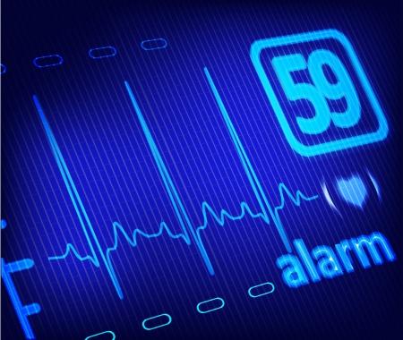 pulsating: ECG alarm on medical monitor