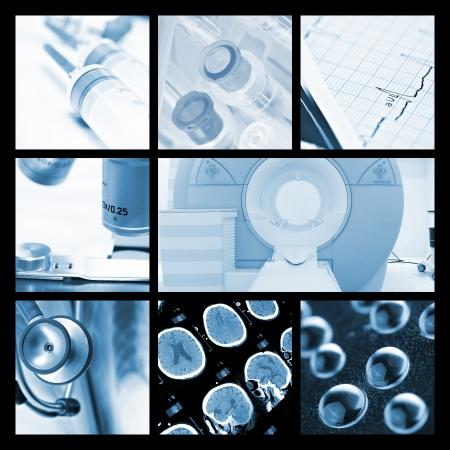 醫療對象和技術的照片集