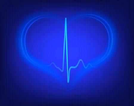 heart shape and electrocardiogram  photo
