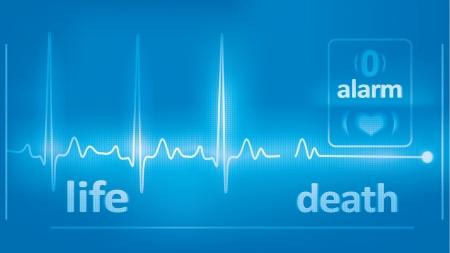 cardioid: coraz�n late cardiograma y asistolia en el monitor m�dico