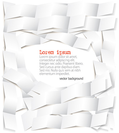 Set of strips of white paper and space for text  Vector  Vector