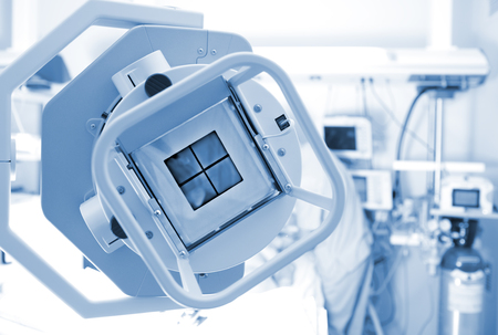 Macchina a raggi X nel reparto di terapia intensiva Archivio Fotografico