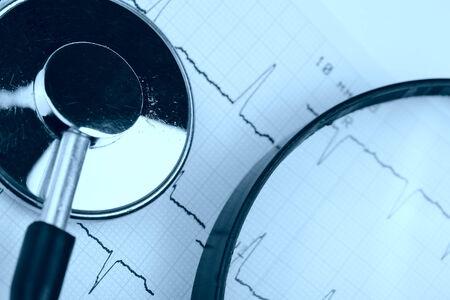 study of cardiogram  photo