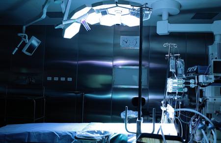 Operatiekamer en het licht van de chirurgische lamp