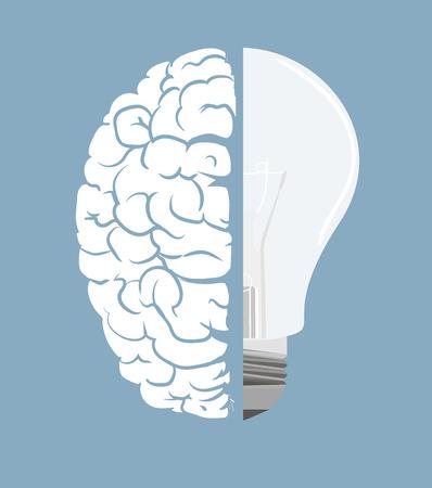 Brain and light bulb  Concept of idea Stock Vector - 27146077