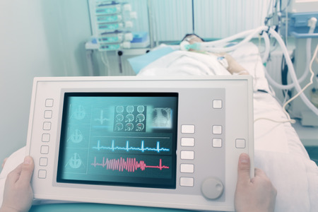 Electronic device for the treatment and diagnosis of the patient.  photo