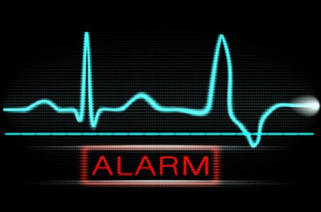 Danger on the medical monitor  Vector