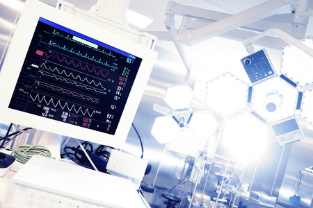 Cardiomonitor手術。 版權商用圖片 - 27837054