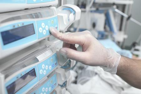icu: Using equipment in hospital
