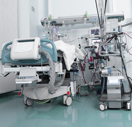 ICU with serious patient  photo