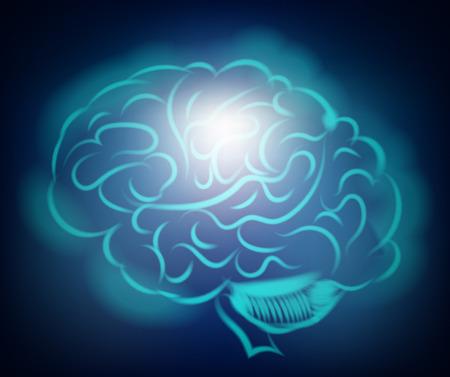 hypothalamus: Light of the human brain. Abstract illustration