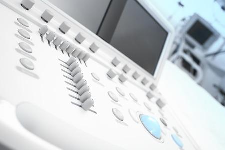 Modern medical equipment. Fragment of echo machine  photo