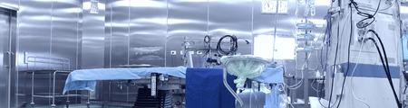 gurney: Operating room. Interior and modern equipment  Stock Photo