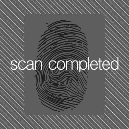 forensic science: Fingerprint scan  Stock Photo