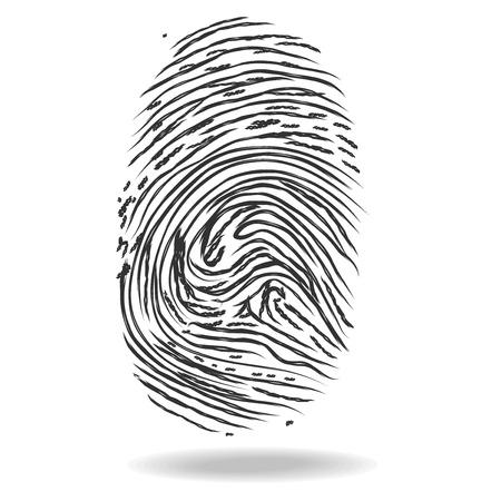 fingermark: Fingerprints. Crime and safety concept Stock Photo