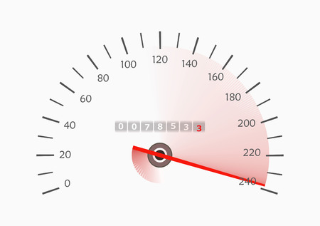 Speedometer with moving arrow.illustration illustration
