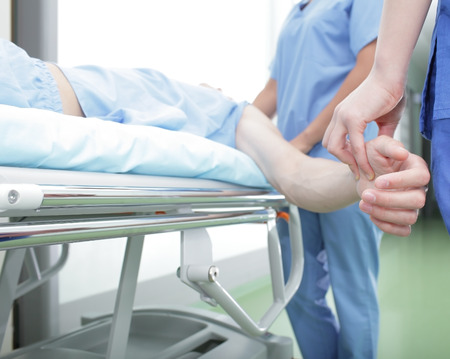 mortuary: Examination of the patient in the acute condition