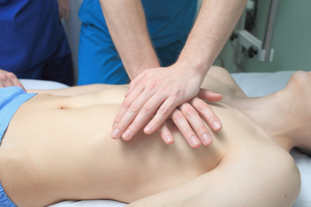 cpr: In the process of resuscitation (first aid)