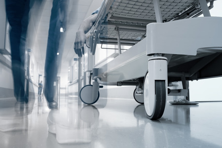 Corridor before the hospital morgue