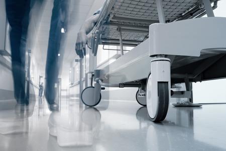 undertaker: Corridor before the hospital morgue