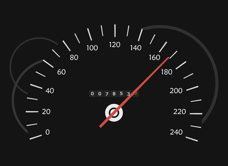 technology symbols metaphors: The speedometer in the dark Illustration