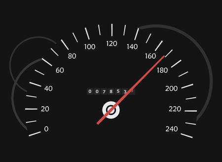 odometer: The speedometer in the dark Illustration