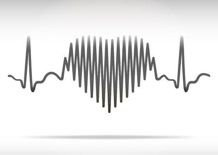 Heart beating line Vector