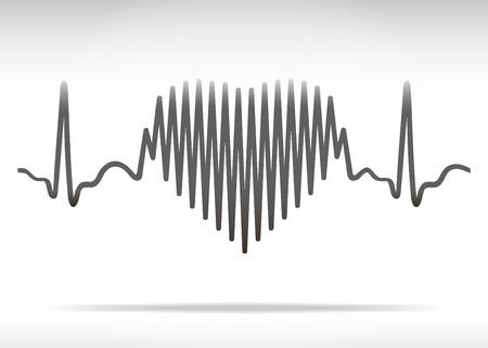 paliza: L�nea de golpes del coraz�n Vectores