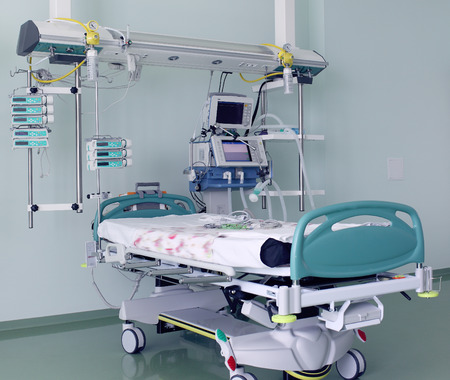 surgery bed: Hospital room