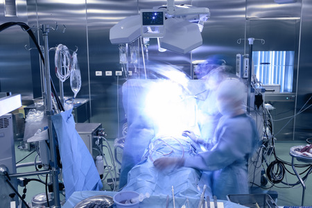 In the operating room during surgery