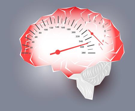 brain work: Maximum speed of the human brain