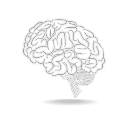 Thoughts brain abstract Illustration illustration