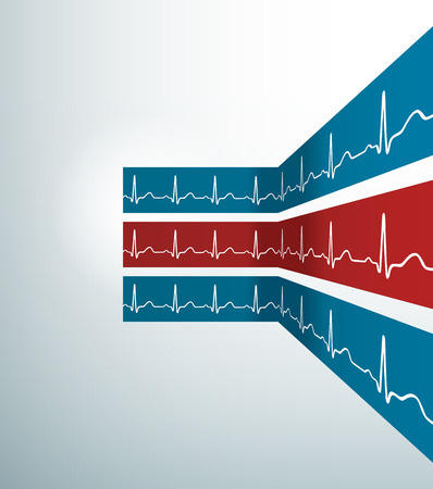 heartbeat: Abstract vector stripes with heartbeat line. Illustration Stock Photo