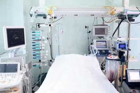 Modern technology in intensive care unit room Standard-Bild