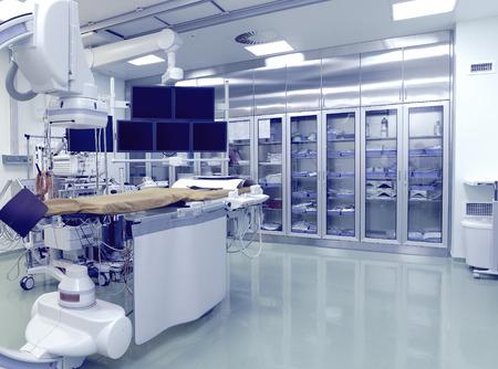Laboratorio (camera) con attrezzature ad alta tecnologia per le operazioni di raggi X Archivio Fotografico