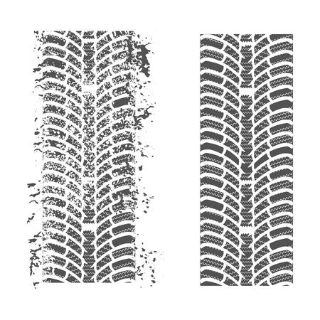 skidding: Tire tracks. Vector on a white background for your design Illustration