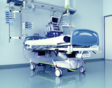 intensive care unit: Medical room in the intensive care unit is vacant and ready at any moment to take the patient