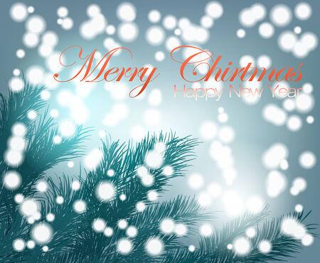 Mystery of the Christmas tree and snowfall photo