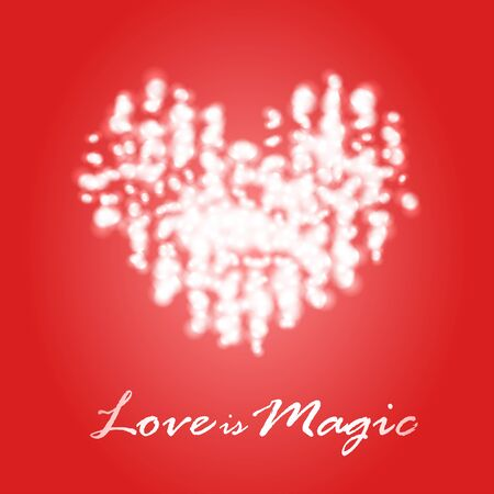 for a dream: Magical dream heart template design idea for Valentines Day Illustration