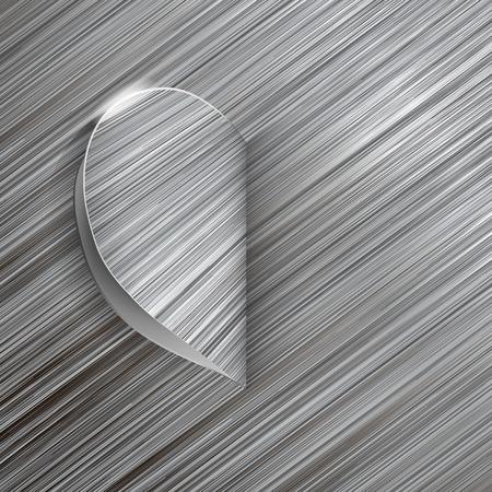 precious metal: Valentines Day card as a metallic heart